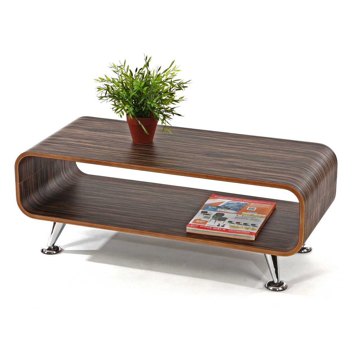 Møkt zebra sofabord - Bredde: 90 cm - Længde: 39 cm - Højde: 33,5 cm