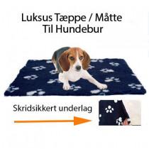Luksus hunde Tæppe med skridsikkert underlag - Til Hundebur